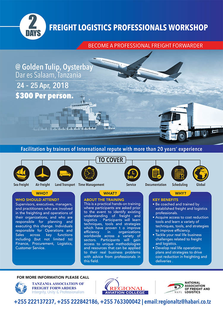 BECOME A PROFESSIONAL FREIGHT FORWARDER  - Tanzania Business