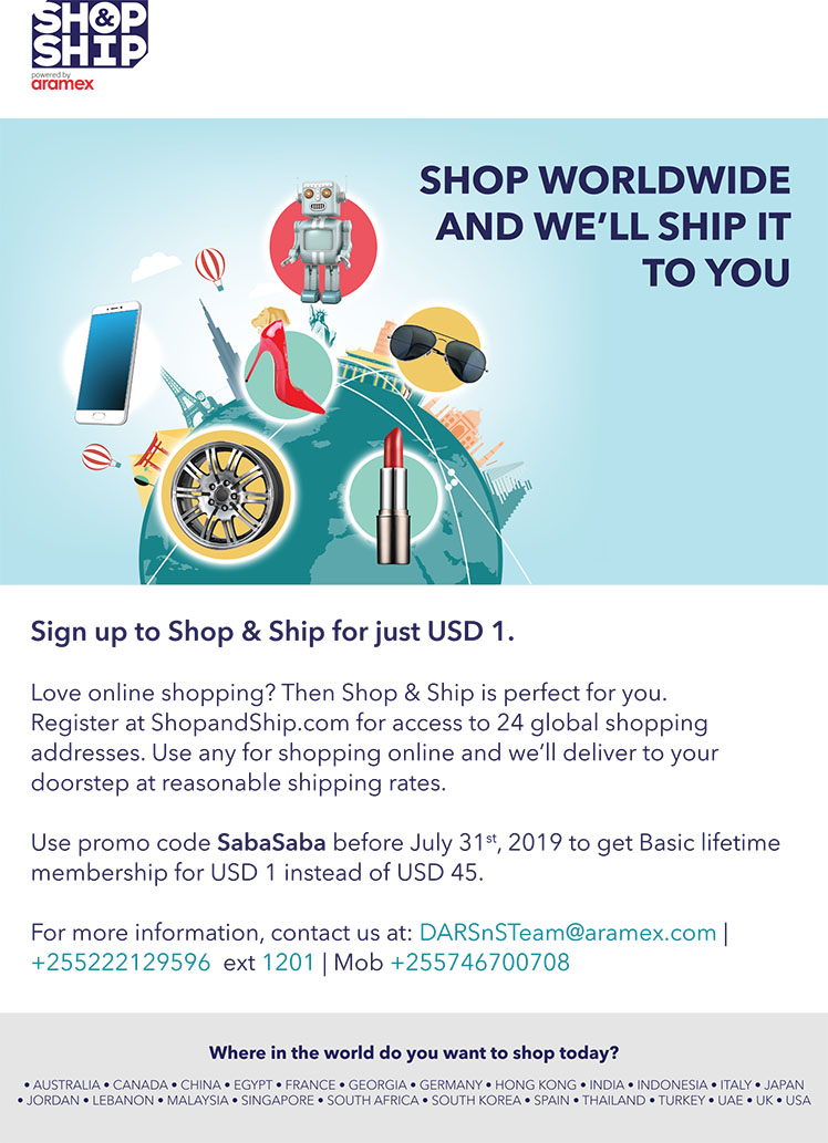 Aramex: SHOP WORLWIDE AND WE'LL SHIP IT TO YOU - Tanzania