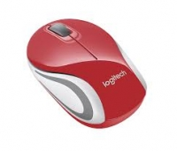 Logitech Wireless Red Mini Mouse M187